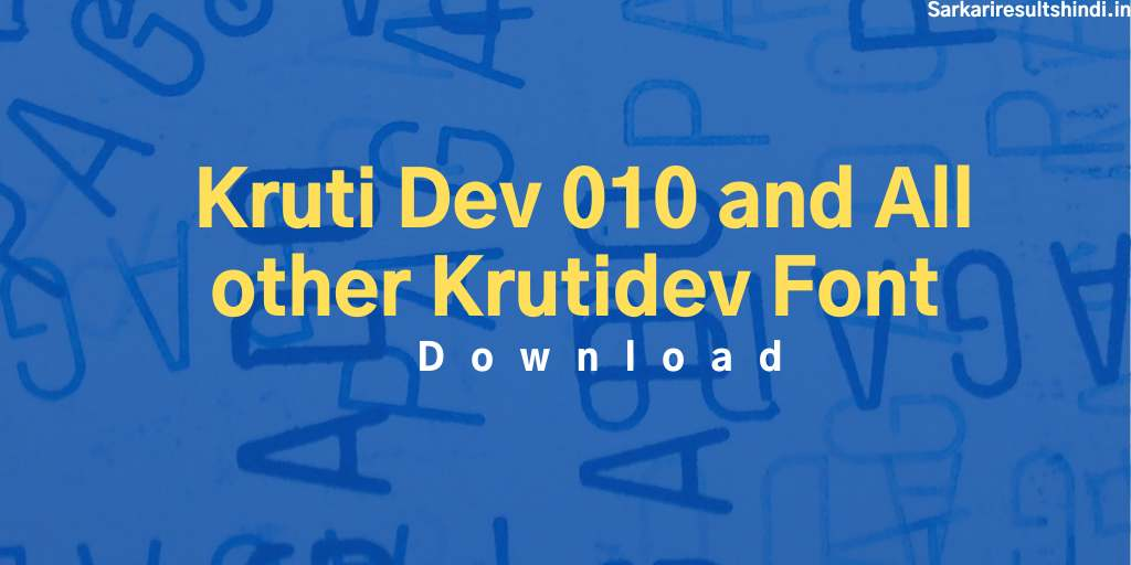 kruti dev all font download